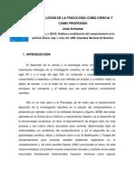 Lectura 1 - La Evolucion de La Psicologia Como Ciencia y Profesion