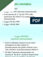 quadro normativo adozione