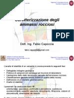 Capoccia F. - caratterizzazione degli ammassi rocciosi