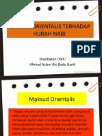 Dakyah orientalis terhadap hijrah nabi