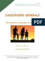 CANZONIERE GENERALE PER INCONTRI DI PREGHIERA E ADORAZIONE