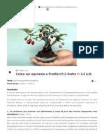 Como ser operante e frutífero_ (2 Pedro 1_ 3-5 6-8)