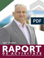 Raportul de activitate al lui Igor Dodon (26 august, 2020)