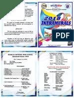 Intrams Program 2018.