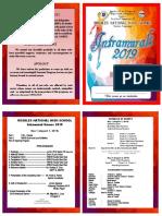 Intrams Program 2019