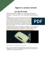 Como configurar o acesso remoto no roteador da TP-link