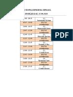 Prijem prvaka-raspored