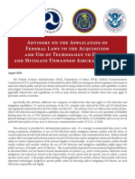 Interagency Legal Advisory on UAS Detection and Mitigation Technologies