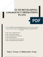6 POINTS TO DEVELOPING EMERGENCY OPERATIONS PLANS