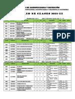 HORARIO  DE CLASES  2018-II-FAN