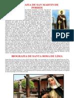 BIOGRAFIA DE SAN MARTIN DE PORRES