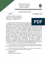 Limitarea accesului publicului în municipiul Chișinău