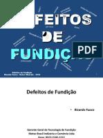 Defeitos de Fundição - 1 - Introdução