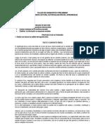 TALLER DE DAIGNOSTICO PRELIMINAR