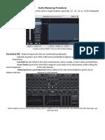Audio Mastering Procedures