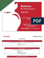 8th grade science curriculum guide