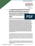propiedades biológicas de proteína de almendras