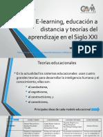 E-learning, educación a distancia y teorías del