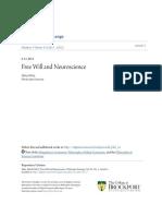 Mele- Free Will and Neuroscience