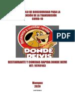 RESTAURANTE Y COMIDAS RAPIDAS DONDE DEIVI