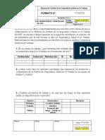 FT-SST-033 Formato Evaluación Rendición de Cuentas del SG-SST