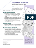 Payroll Brochure for Prospective Clients