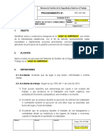 PRC-SST-008 Procedimiento Reporte de Actos y Condiciones Inseguras