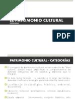 CATEGORIAS PATRIMONIO ULTURAL