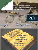 ARTIGO - A catalogação de livros raros