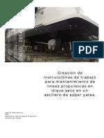 SISTEMA PROPULSIVO- Instrucciones de trabajo para dique seco