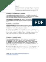 CLASIFICACIÓN DE LAS NECESIDADES