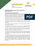 Oficina para la Ayuda Humanitaria hace presentación oficial del Informe de Gestión año 2020