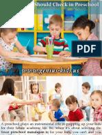 Qualities You Should Check in Preschool Manalapan NJ