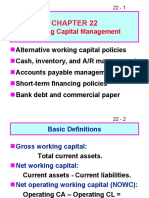 Working Capital Policy