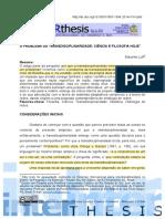 o Problema Da Transdisciplinaridade - Ciencia e Filosofia Hj - 21-08