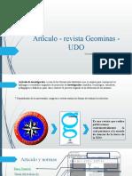 Articulo - revista Geominas - UDO.pptx
