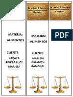 MODELO DE FOLIOS