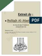 Extrait - [Bulûgh Al-Marâm]