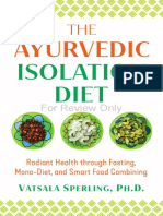Ayurvedic Isolation Diet