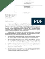 Public Letter to Gov. Cuomo From DOJ