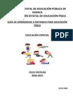 GUIA DE APRENDIZAJE EDUCACIÓN FÍSICA EDUC. ESPECIAL