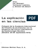 Piaget Jean - La Explicacion En Las Ciencias