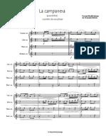 La Campanera pasodoble for quartet sax FULL SET