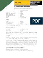 certificado de  operavilidad de  maquina