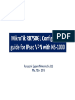 MikroTik RB750 configuration guide for IPsec with NS1000_Ver1.0_Final