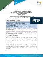 Guía de actividades y Rúbrica de evaluación - Tarea 3 Armonización Corporal