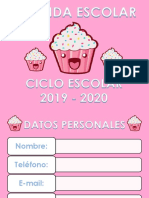 AGENDA ESCOLAR CUPCAKE 2019-2020