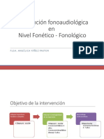 Intervención en nivel fonético - fonológico