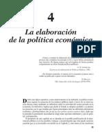 La elaboración de la Política Económica