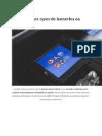 Les différents types de batteries au plomb